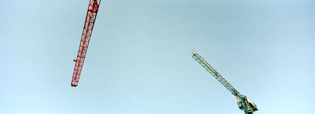небо крана конструкции Стоковое фото RF