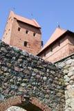 небо красного цвета замока кирпича предпосылки Стоковые Фотографии RF