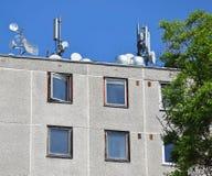 небо крыши предпосылки антенн голубое стоковые изображения rf