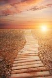 небо к путю Стоковые Изображения RF