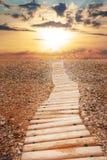 небо к путю Стоковые Изображения