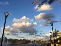 Небо Майами, Майами, Флорида Стоковые Изображения