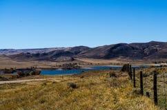 небо места дороги голубой сельской местности пустое Стоковые Фото