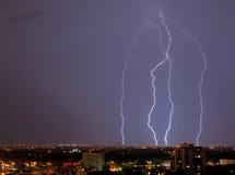 небо молнии Стоковое фото RF