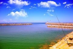 Небо, море, рыбная ловля, Стоковые Изображения RF