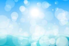 небо моря абстрактной предпосылки красивейшее Стоковое Фото
