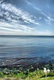 небо моря земли стоковая фотография rf
