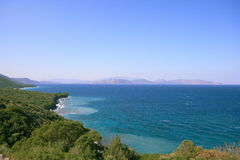 небо моря пляжа Стоковые Фотографии RF