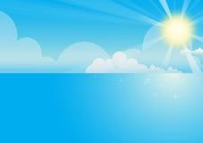 небо моря предпосылки Стоковое Изображение RF