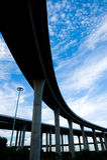 небо моста Стоковая Фотография