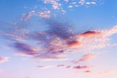 Небо на заходе солнца Стоковое фото RF