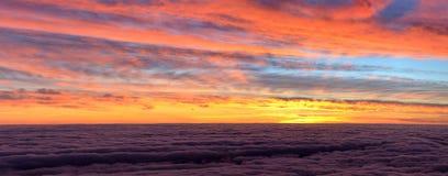 Небо на заходе солнца, Мадейра Стоковая Фотография RF