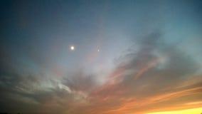 Небо на заходе солнца Стоковое Изображение RF