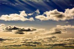 Небо на заходе солнца Стоковые Фото