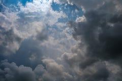 Небо на идя дождь день Стоковая Фотография