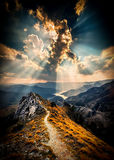 Небо над македонией Matka каньона Стоковая Фотография RF