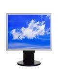 Небо на мониторе компьютера Стоковая Фотография RF