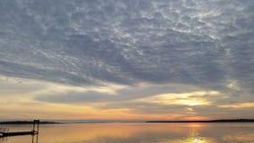 небо на огне с цветом Стоковая Фотография