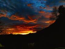 Небо на пожаре Стоковые Изображения RF