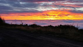 Небо на пожаре Стоковое Фото