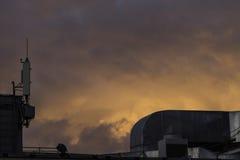 Небо на пожаре Стоковая Фотография