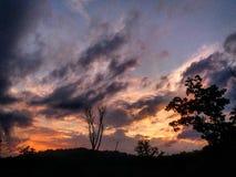 Небо на пожаре Стоковое фото RF