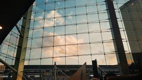 Небо на стекле Стоковая Фотография