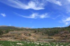 Небо над Тенерифе стоковые изображения rf