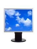 Небо на экране компьютера Стоковые Фото