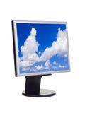 Небо на экране компьютера Стоковые Изображения