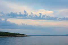 Небо на Duga Uvala стоковая фотография rf