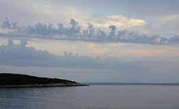 Небо на Duga Uvala стоковые изображения rf