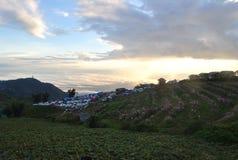 Небо облака света горы berk ушата Phu красивое стоковая фотография rf