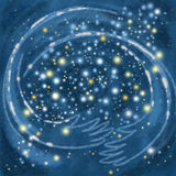 Небо обнимая звезды Стоковые Фото