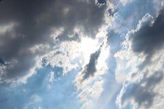 Небо облака искусства по солнцу Стоковые Изображения RF