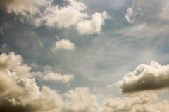 Небо облака искусства по солнцу Стоковая Фотография