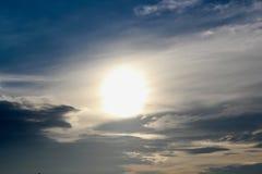 Небо облака искусства светом рая Стоковые Изображения