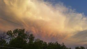 Небо огня Стоковое Изображение RF