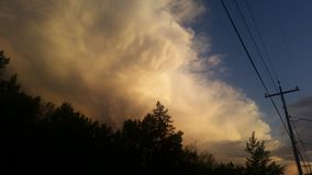 Небо огня Стоковые Фото
