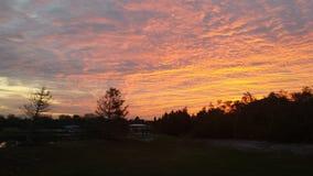 Небо огня стоковые изображения rf