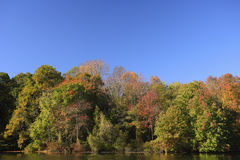 небо озера осени голубое Стоковая Фотография RF