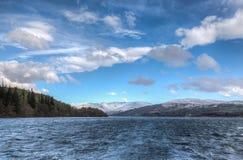 небо озера Стоковое Фото