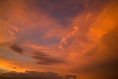 небо озера california mono Стоковое Изображение RF