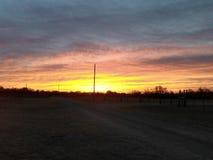 Небо Оклахомы Стоковые Фото