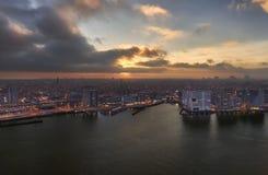 Небо ломая над Амстердамом Стоковая Фотография