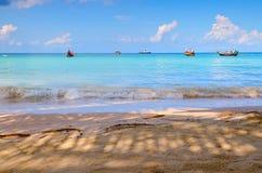 небо острова пляжа голубое Стоковая Фотография RF
