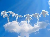 небо острова фантазии Стоковое Изображение RF