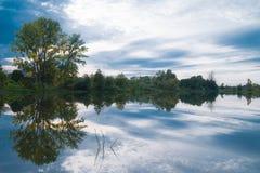 Небо отраженное в воде Стоковая Фотография