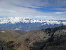 Небо от горы Стоковое Изображение