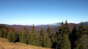 небо панорамы горы фильтра померанцовое видеоматериал